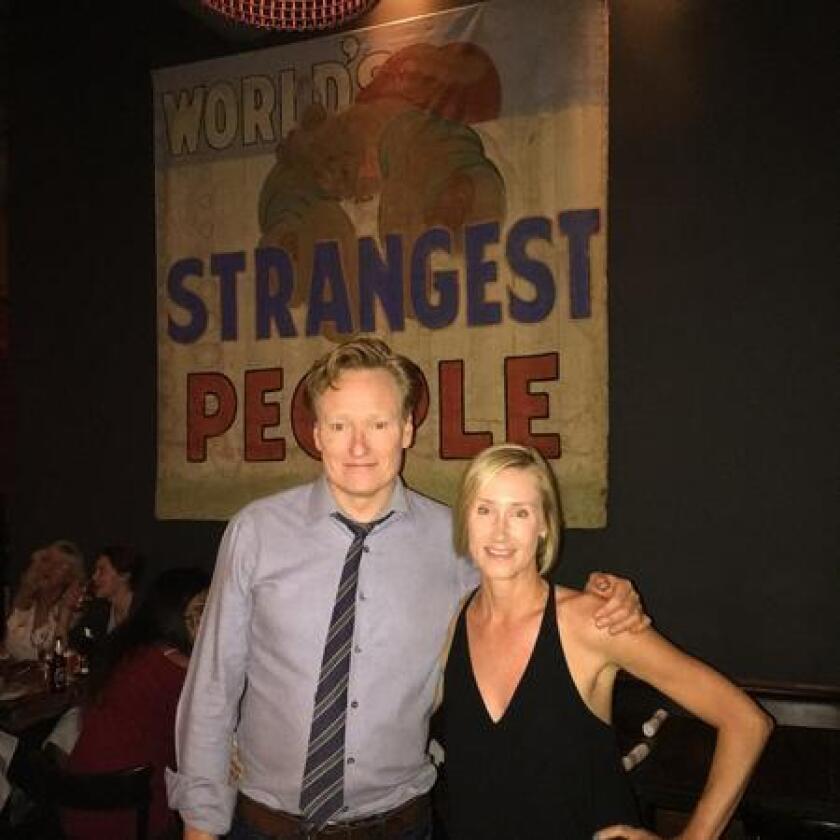 Conan O'Brien and Terryl Gavre at BANKERS HILL BAR + Restaurant (/ BANKERS HILL BAR + Restaurant)