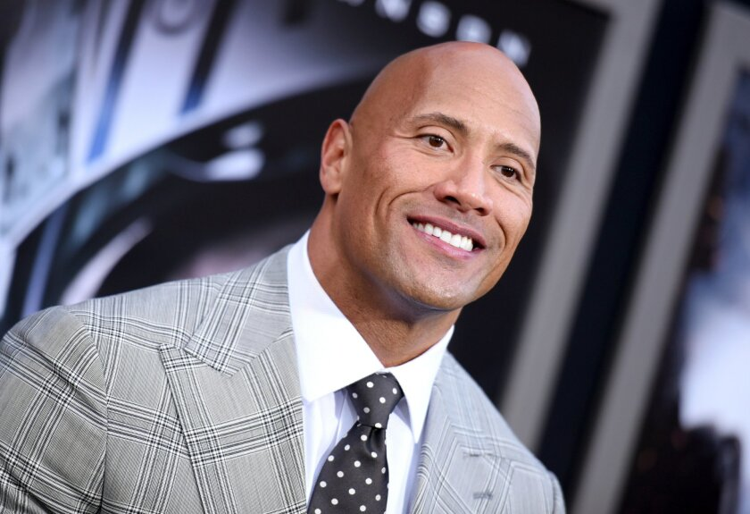 May 26, 2015 file photo  of Dwayne Johnson at a premiere in Los Angeles.