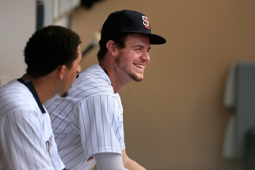 Padres Wil Myers hit two home runs against the Atlanta Braves at Petco Park Wednesday.