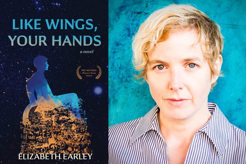 """San Diego author Elizabeth Earley reads from hew new novel, """"Like Wings, Your Hands,"""" at the Book Catapult bookstore in South Park on Nov. 2."""