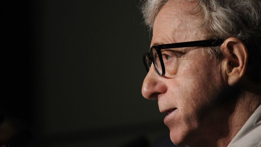 Director Woody Allen, shown in 2010, is suing Amazon for breach of contract in movie production and distribution deals.