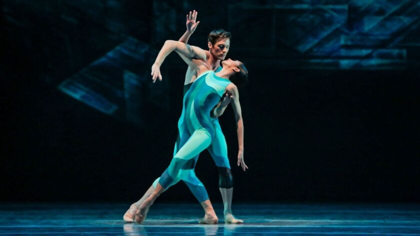 "Christine Rocas and Rory Hohenstein in ""Beyond the Shore."""