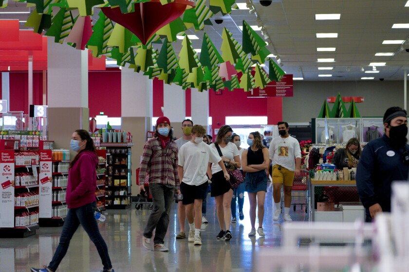 Customers make their way into the Mission Valley Target during the annual Black Friday sale in November.