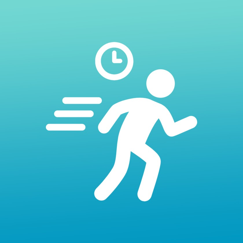 Pictogram of person running
