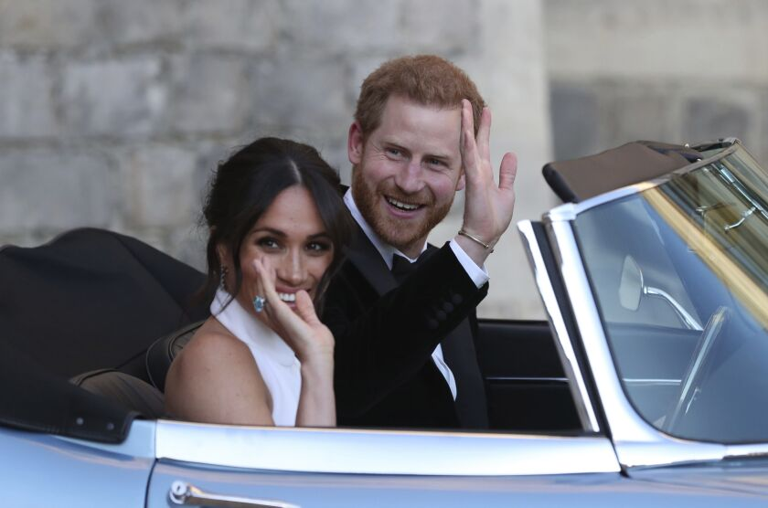 The newly married Duke and Duchess of Sussex leave Windsor Castle in May 2018.