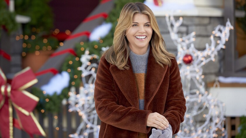 "Lori Loughlin in ""Homegrown Christmas"" on Hallmark."