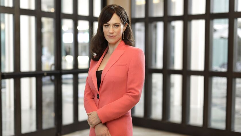 "Maggie Siff plays Wendy Rhoades, the woman in the middle of two men determined to destroy one other in Showtime's ""Billions."""