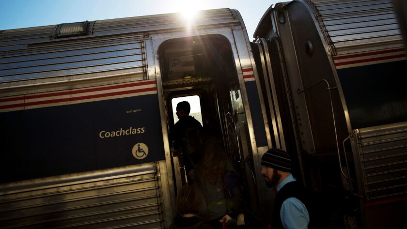 An Amtrak passenger tweeted that he ordered a pizza to a stalled train traveling from New York to Washington.