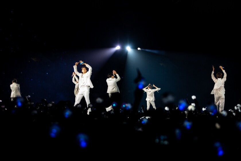 BTS, the new kings of pop, conquer a deafening, sold-out