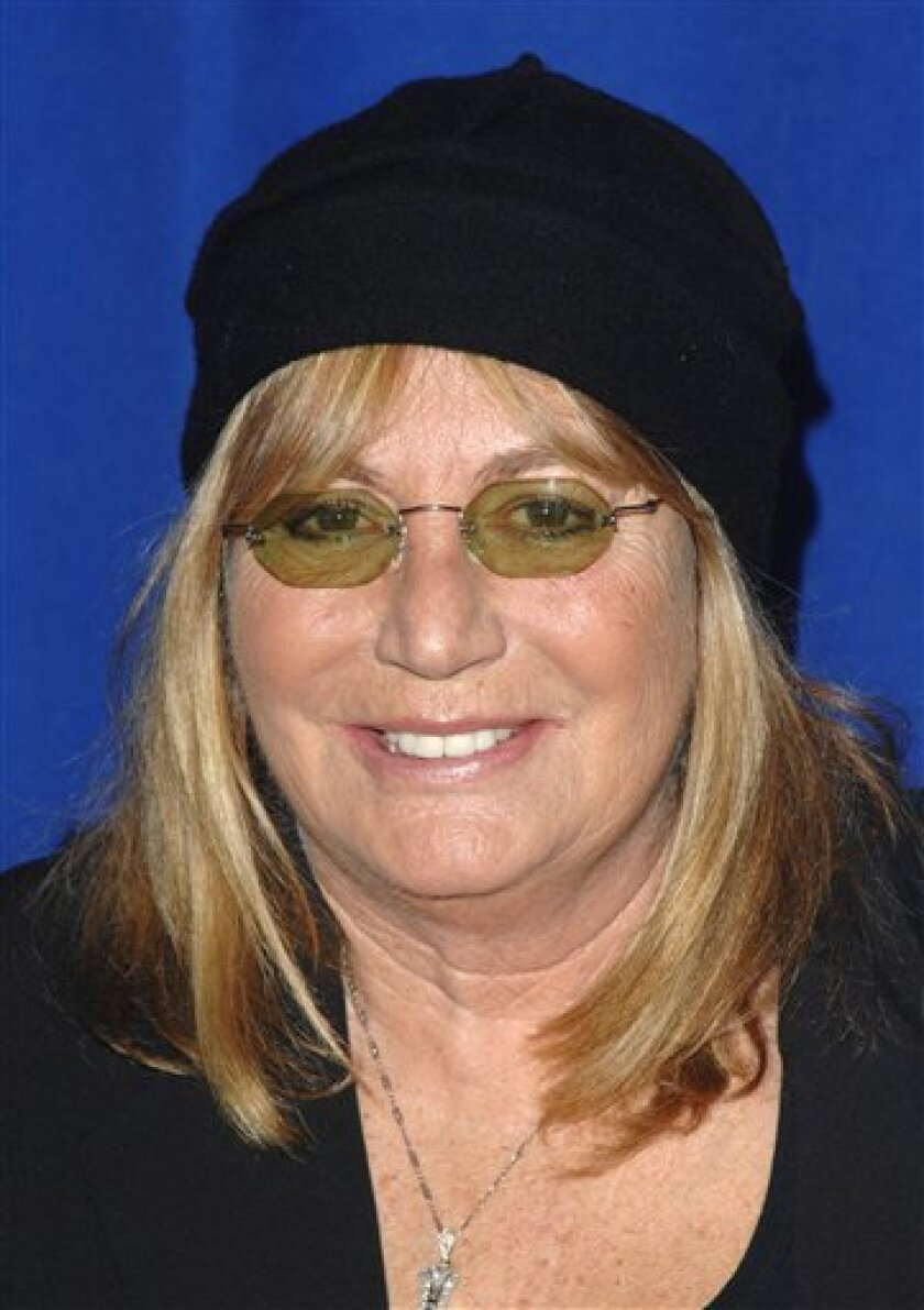 """FILE - In a Friday, Nov. 13, 2009 file photo, Penny Marshall attends the Joe Torre Safe at Home benefit honoring Mariano Rivera, in New York. Marshall's agent, Dan Strone, announced Tuesday, Oct. 11, 2011 that online retailer Amazon.com will release Marshall's memoir """"My Mother Was Nuts"""" in Fall 2012. Marshall starred in the 1970s sitcom """"Laverne and Shirley"""" and went on to direct such big screen hits as """"Big"""" and """"A League of Their Own."""" (AP Photo/Peter Kramer, File)"""