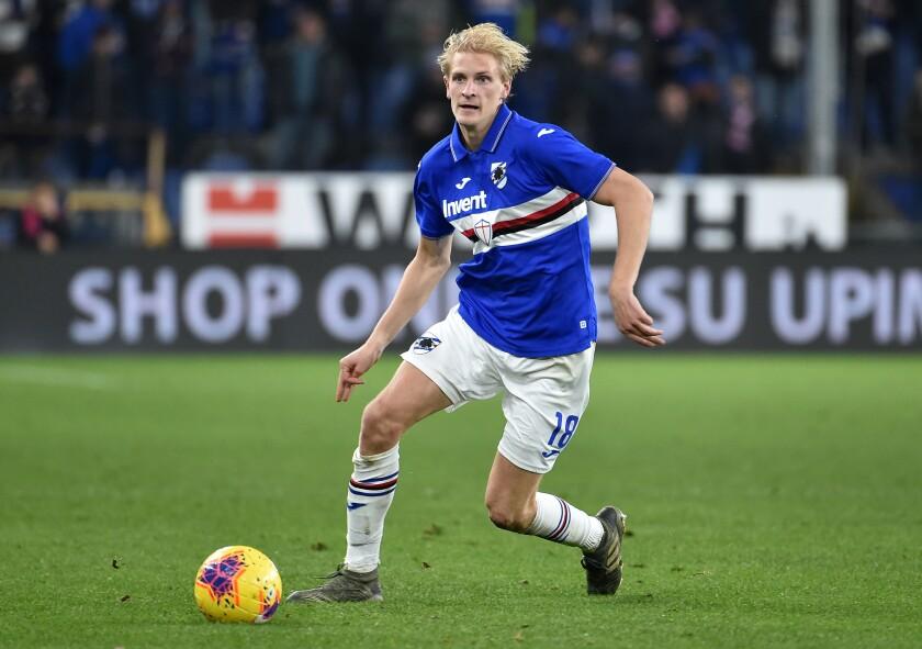 Morten Thorsby of UC Sampdoria.
