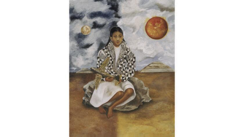 """""""Girl from Tehuacan, Lucha Maria"""" (1942) by Frida Kahlo"""