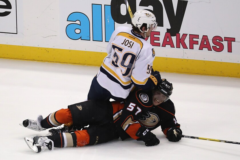 Ducks eliminated from playoffs by Predators in loss, 2-1