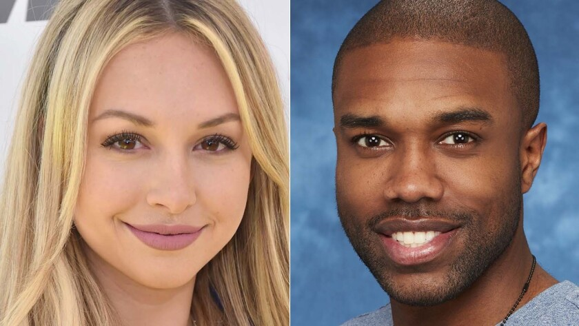 """Corinne Olympios and DeMario Jackson of """"Bachelor in Paradise."""""""