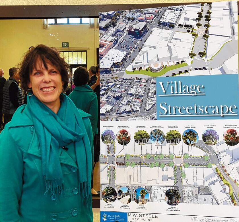 Landscape architect Jennifer Phelps explains the tree choices for La Jolla's Village Streetscape Plan.