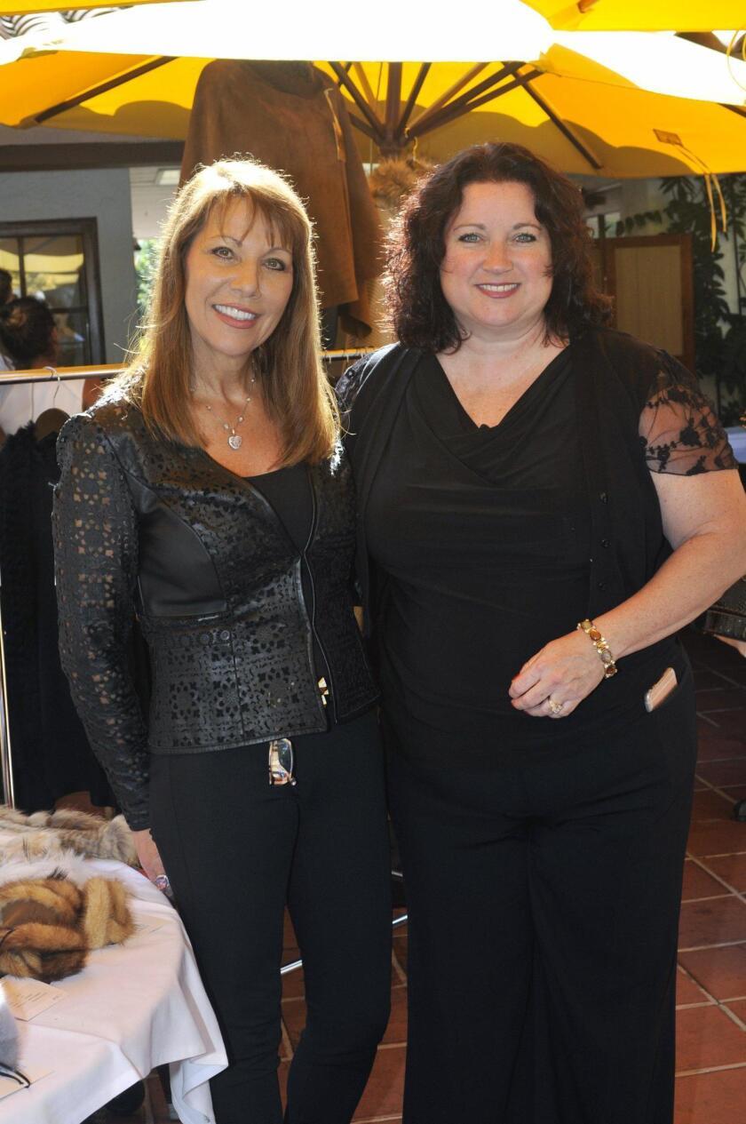 Fashion coordinator Maggie Bobileff, Casa de Amparo Director of Development Kathy Karpé