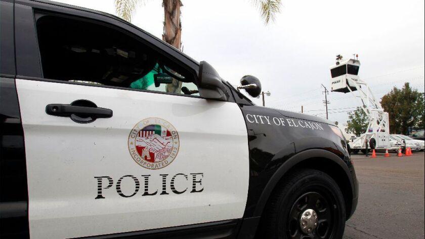 El Cajon police vehicle