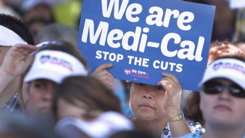 2013 rally against Medi-Cal cuts