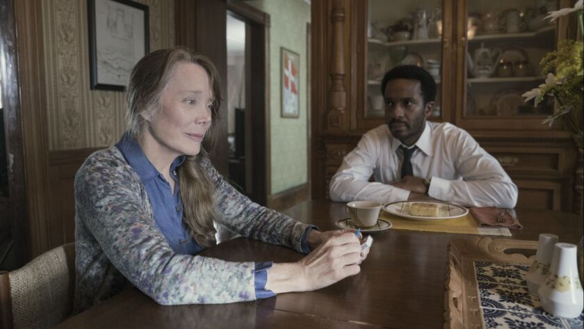 """Sissy Spacek, left, as Ruth Deaver and Andrew Holland as Henry Deaver in a scene from """"Castle Rock."""""""
