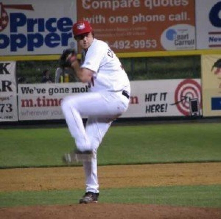 christensen playing for the tri-city Valleycats, a minor league team based in troy, n.y., affiliated with the Houston astros. He is a right-handed pitcher and was drafted by the astros in June.