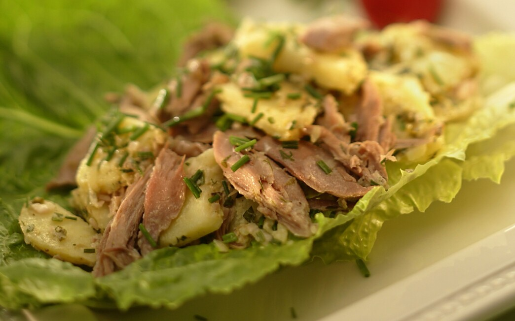 Duck and potato salad