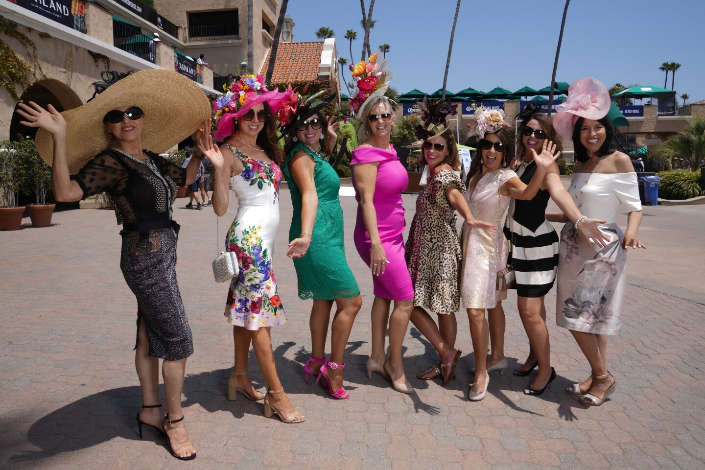 Race fans took part in the annual tradition of wearing fashionable hats.