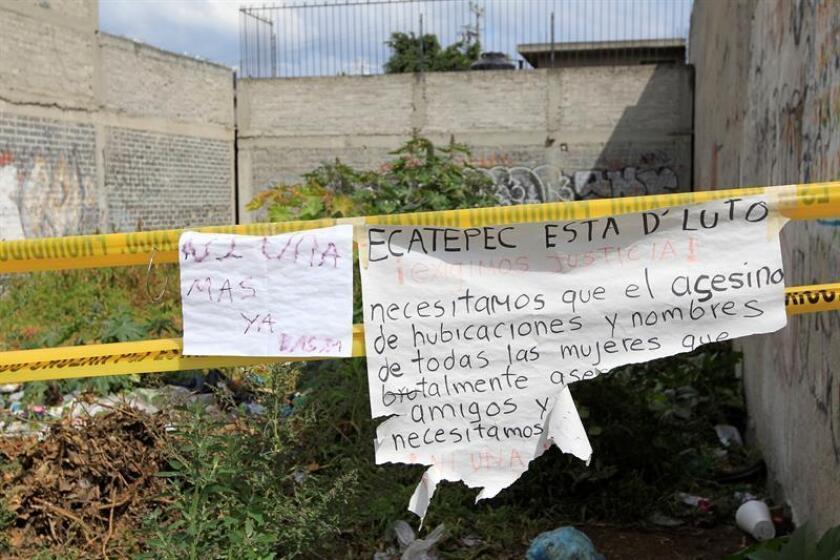 Vista del predio donde el presunto asesino de mujeres abandonaba los cuerpos de sus víctimas, en el municipio de Ecatepec, en el Estado de México (México). EFE/Archivo