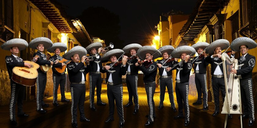 Mariachi Vargas de Tecalitlán will perform with the the San Diego Symphony on Sunday.