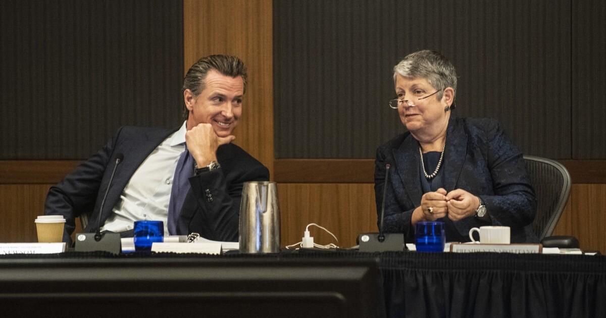 Gov. Gavin Newsom gegen UC Studiengebühren zu erhöhen, als 'unberechtigt' und 'schlecht für Schüler