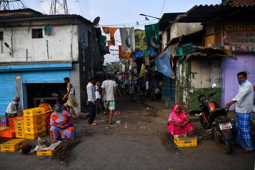 Residents of Dharavi, one of Asia's largest slums, struggle to observe social distancing.