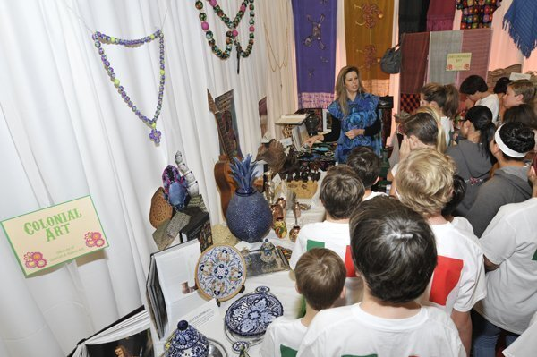 Students learn about Colonial arts