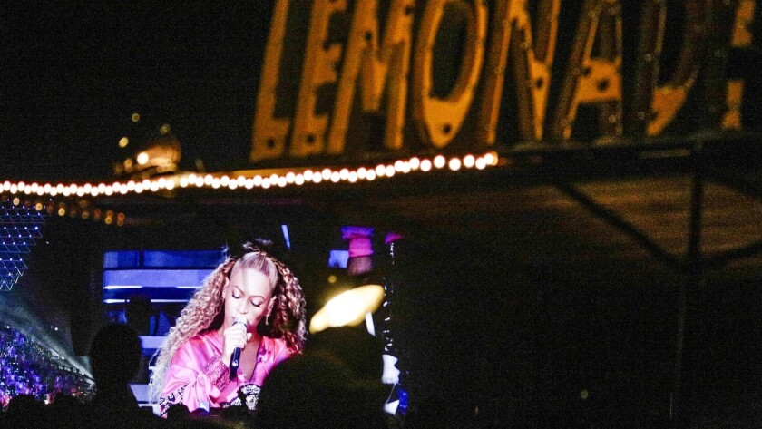 INDIO,CA -- SATURDAY, APRIL 21, 2018-- Beyonce performs at the Coachella stage Saturday at the Coac