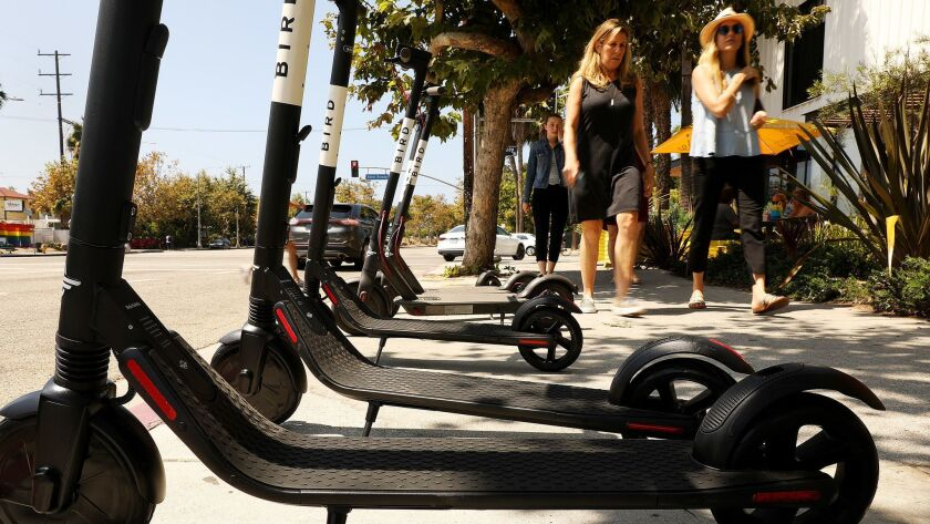 The city says that tracking each scooter trip in Los Angeles will help officials determine which companies are not following new operating rules, but privacy advocates say it could be easy to trace a trip to an individual person.