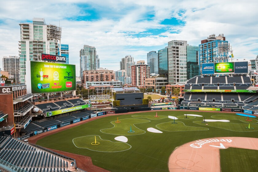 A view of the Links at Petco Park.