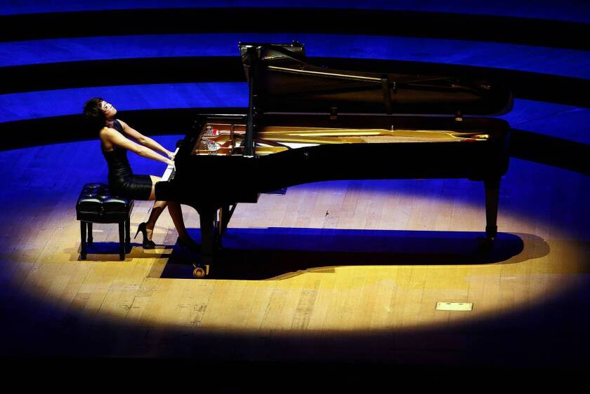 Music review: Yuja Wang inspires wonder at Disney Hall