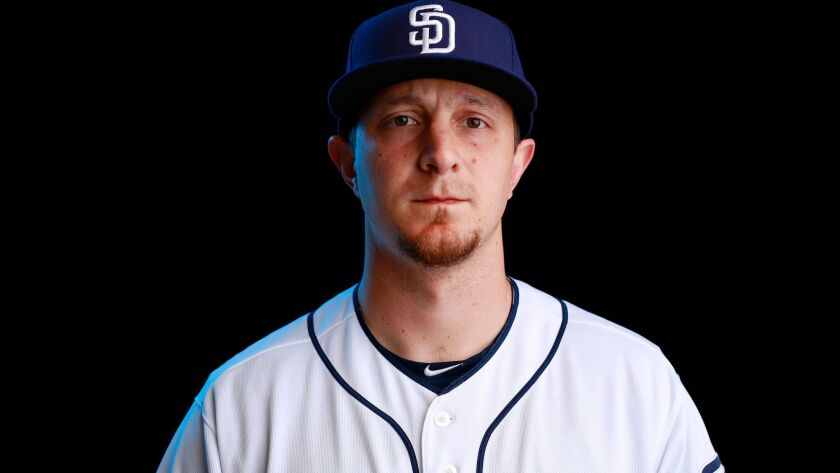 San Diego Padres outfielder Alex Dickerson on Feb. 21, 2018.
