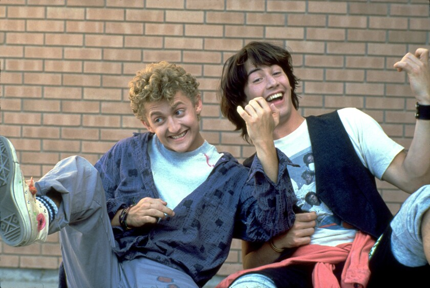 """Actors Keanu Reeves, right, as Ted, and Alex Winter as Bill, of the series, """"Bill & Ted."""""""