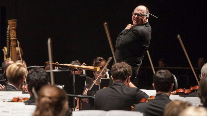 Steven Schick, shown here in a file photo, conducting the La Jolla Symphony & Chorus.