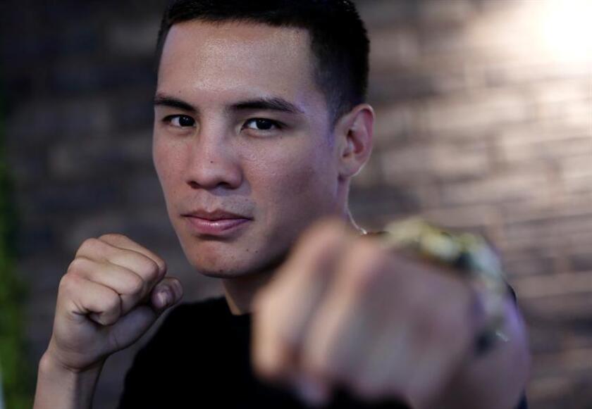 El campeón del mundo de peso pluma por la Organización Mundial de Boxeo (OMB), Óscar Valdez. EFE/Archivo