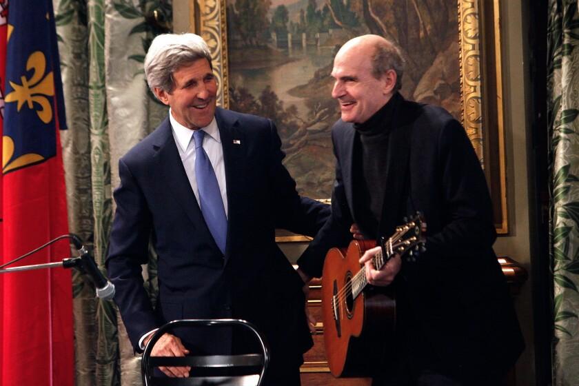 John Kerry, James Taylor
