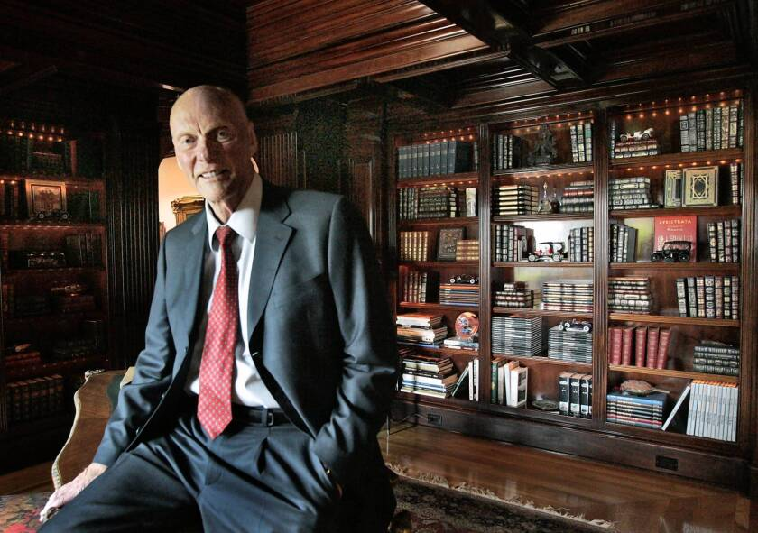 Fred Kavli, at his Santa Barbara home in 2008, gave money to scientific institutions and researchers in addition to several nonprofits in the Moorpark area. He died Thursday at 86.