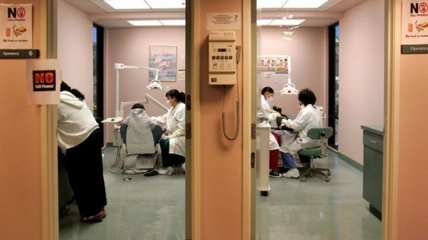 A dental clinic at North County Health Services' office in San Marcos, Calif., shown in 2009.