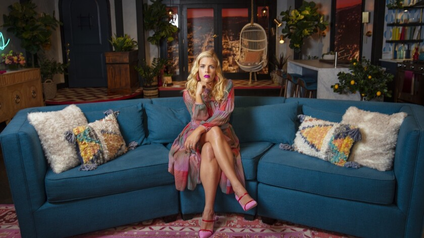 """Busy Philipps on the set of """"Busy Tonight,"""" her talk show that ended in May after being canceled."""