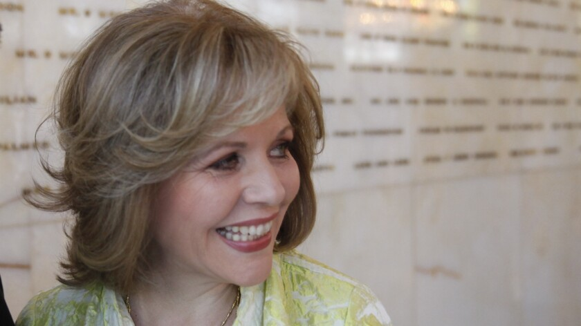 Renee Fleming at the Dorothy Chandler Pavilion in Los Angeles in May.
