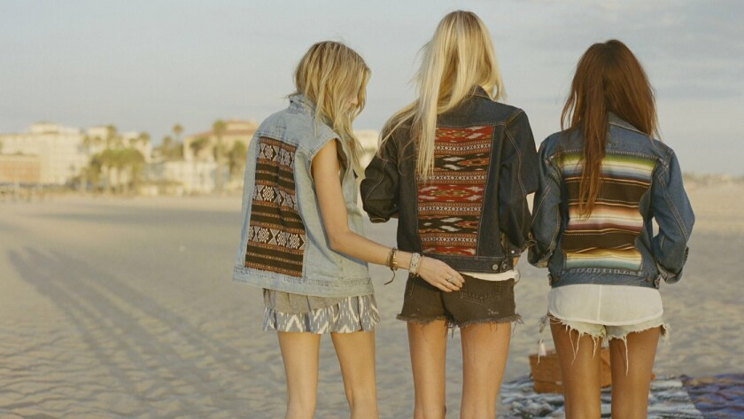 Fashion from recycled jeans