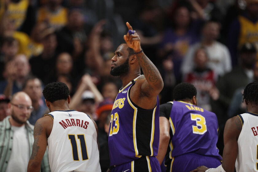 LeBron James, who led the Lakers to a win in Denver on Wednesday night, has won and lost NBA Finals when his teams held home-court advantage.