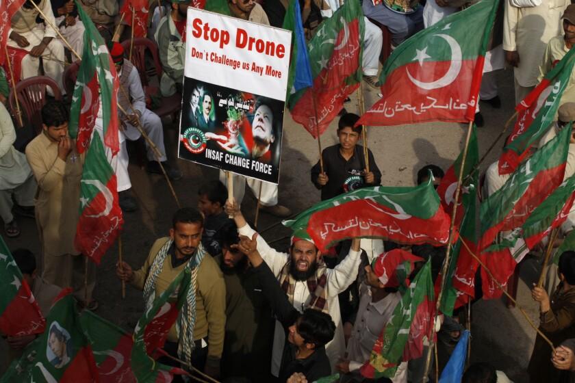 Pakistan drone protest