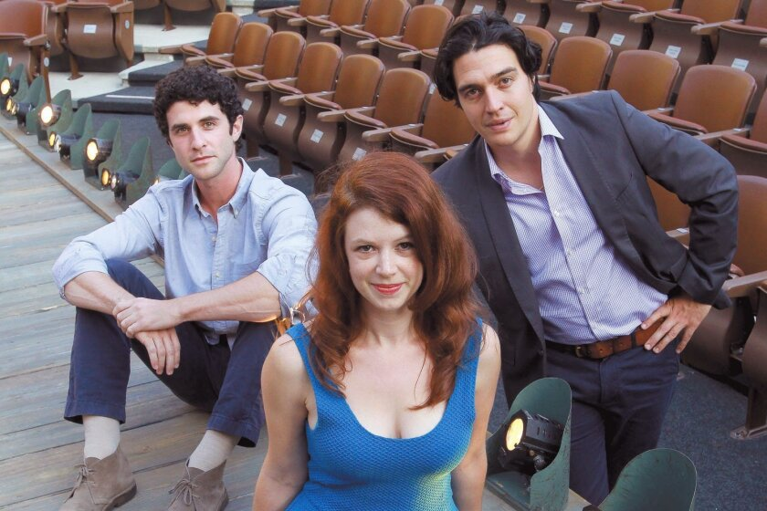 Adam Gerber, Danielle O'Farrell and Christopher Salazar are all students in the University of San Diego's highly selective Master of Fine Arts in Dramatic Arts program, which is jointly run by the university and the Old Globe Theatre.