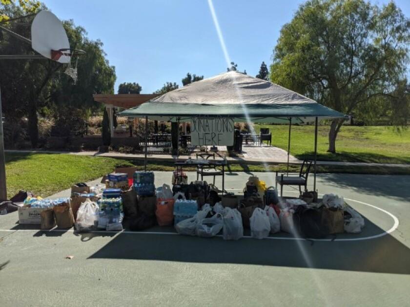 Nalya Rodriguez and Courtney Echols led a donation drive at UC Irvine