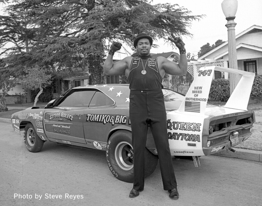1971 South Central, Los Angeles, Big Willie with the Queen Daytona. Mandatory Photo credit Steve R